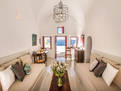 2. Historic Grecian hillside cave house, Santorini, Greece
