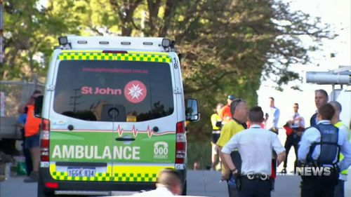 The man was rushed to hospital but could not be saved.