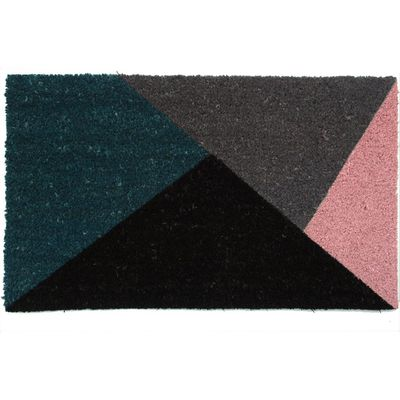 "Triangles coir mat, $15 <a href=""http://www.kmart.com.au/product/triangles-coir-mat/941805"" target=""_blank"">Kmart</a>"