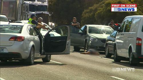 Two men and one woman were stopped by police at gunpoint just outside Murray Bridge in South Australia today. (9NEWS)