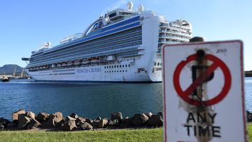 The Ruby Princess, with 1040 crew only on board, docks at Port Kembla, Wollongong. A criminal investigation will be launched into how cruise line operator Carnival Australia was allowed to disembark Ruby Princess passengers in Sydney.