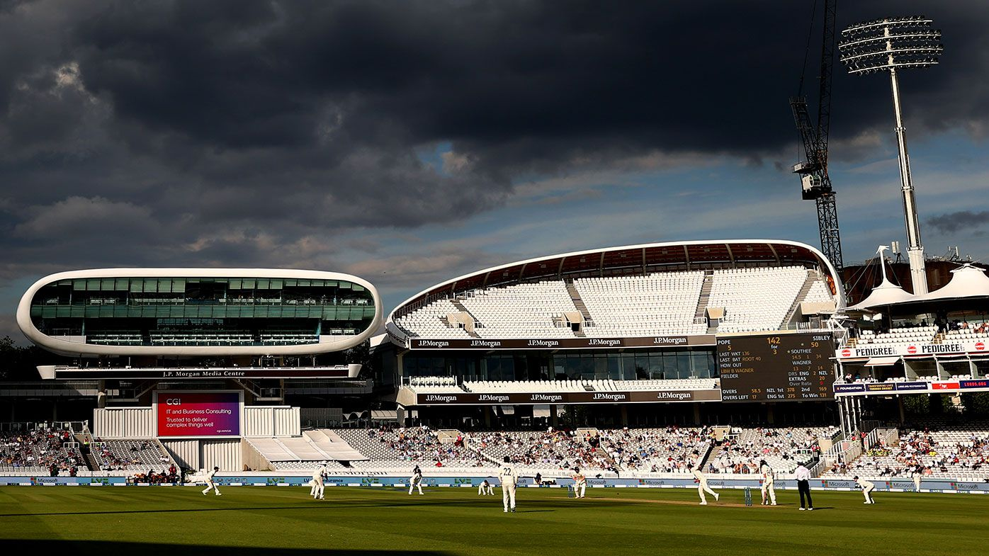 Lord's cricket ground during the final day of the first Test between England and New Zealand.