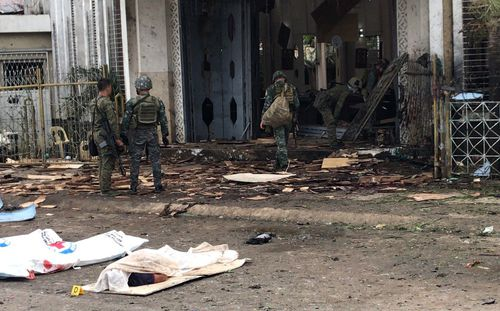 Philippines Defence Secretary Delfin Lorenzana has condemned the attack on the church and the innocents inside and has vowed to go after those responsible.