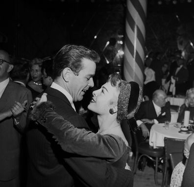 Actor Gower Champion and his wife Marge dance at Mocambo's in Los Angeles, California in 1953