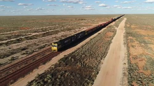 A century on, the railway remains one of the nation's most important transport links. (9NEWS)