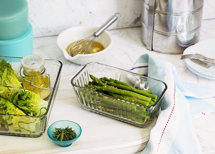 Cos heart and cucumber salad with tarragon vinaigrette