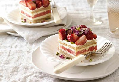 4. Strawberry and watermelon cake