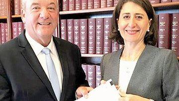 NSW Premier Gladys Berejiklian and former MP Daryl Maguire.