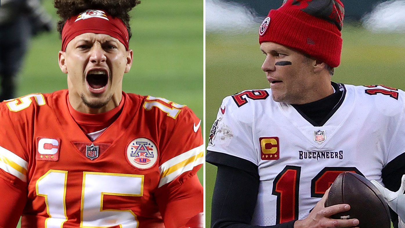Patrick Mahomes and Tom Brady will face-off in Monday's Super Bowl. (Getty)