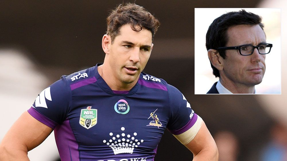 Billy Slater and (inset) Ben Ikin. (AAP and Getty)