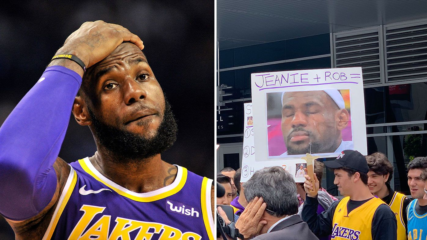 NBA: Los Angeles Lakers fans stage 'saddest protest of all