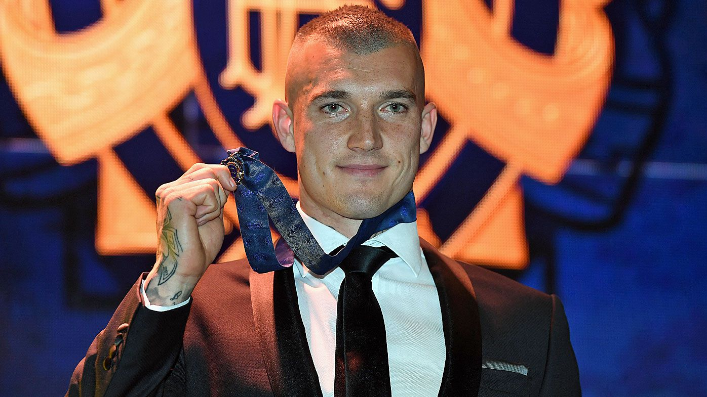 Dustin Martin winning the 2017 Brownlow Medal