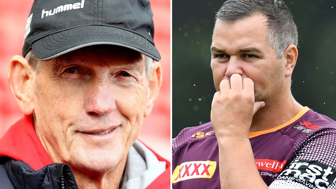 Wayne Bennett and Anthony Seibold