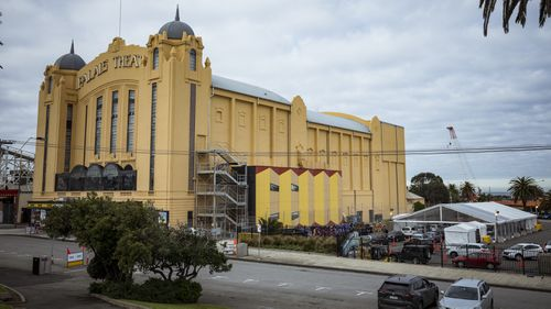 A pop-up COVID-19 testing site has opened next to the Palais Theatre in St Kilda.