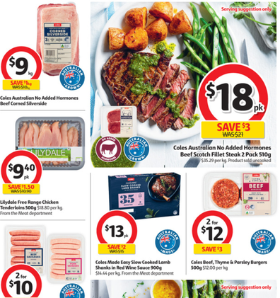 Coles has some great specials for struggling families.