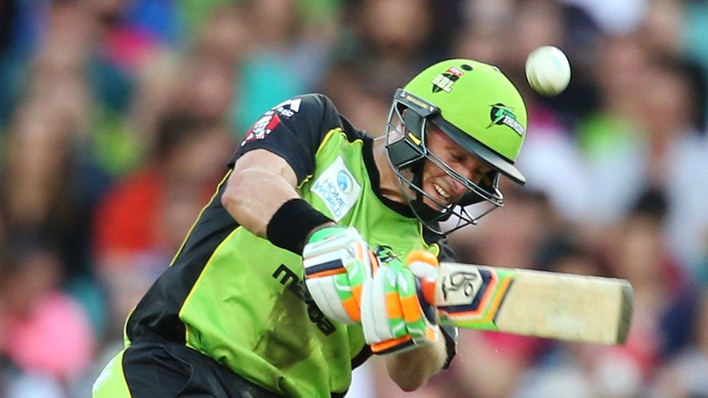 Mike Hussey in action for the Sydney Thunder. (Getty)