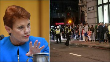One Nation senator Pauline Hanson has pushed her Muslim immigration ban on Twitter. (AAP)