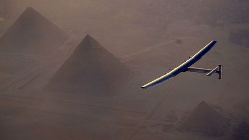 Solar Impulse 2 lands in Abu Dhabi, becoming the first plane to circle the globe without fuel