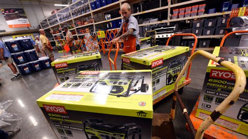 Hardware stores reported strong demand for home generators ahead of Hurricane Florence making landfall in the eastern US.