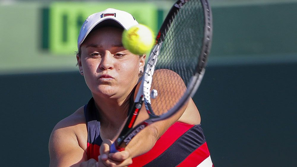 Ash Barty scored an impressive win over Eugenie Bouchard. (AAP)