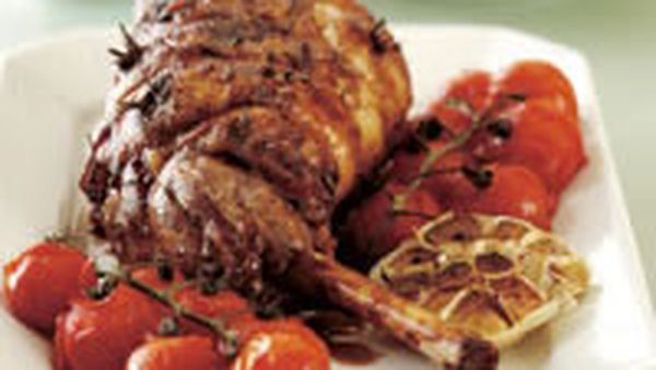 Slow-cooked lamb with artichokes
