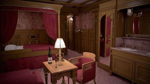 The wealthiest passengers stayed inside the first class cabins. (Blue Star Line)