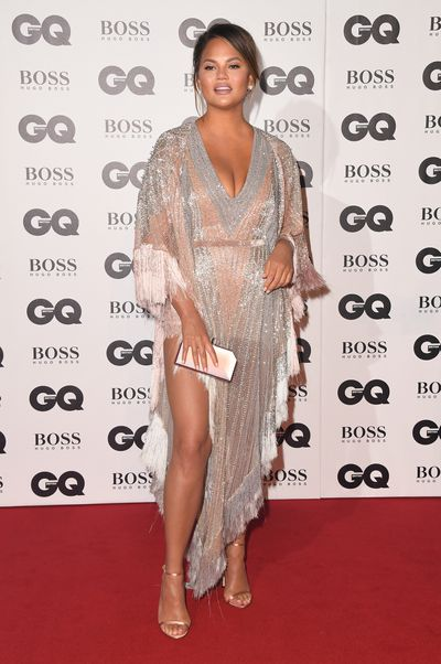"<p>If you&rsquo;re looking for a good dose of glamour,  look no further than the 2018 GQ Awards<a href=""https://style.nine.com.au/2018/08/30/10/34/venice-film-festival-fashion"" target=""_blank"" title="" red carpet"" draggable=""false""> red carpet</a> at London&rsquo;s Tate Modern.</p> <p>The stars brought their A-game to the award show which honors both men and women who've influenced style, sport, politics and entertainment culture over the past 12 months.</p> <p>Model and author <a href=""https://style.nine.com.au/2018/05/25/14/12/chrissy-teigen-pregnancy-style"" target=""_blank"" title=""Chrissy Teigen"" draggable=""false"">Chrissy Teigen</a> hit all the right style notes in a tassled and sequinned floor length Bourjoisie x Lyla Dumont St. Barth dress. </p> <p>Meanwhile, actress Kate Bekinsale won the award for most daring dress of the night, turning heads in a&nbsp; revealing Julien Macdonald gown.</p> <p>Click through to take a look at all the standout looks from the star-studded event.</p>"