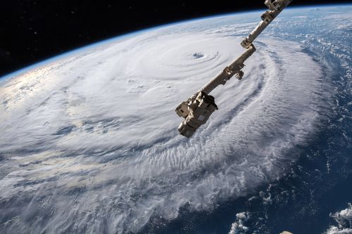 Footage from the International Space Station shows how epic the storms across the globe are.