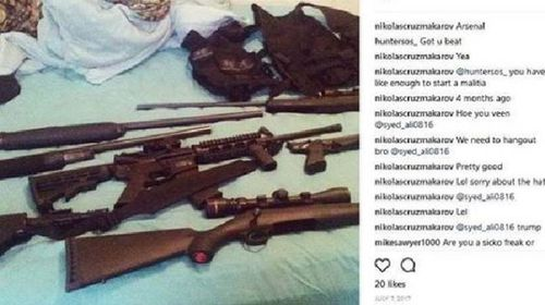 Cruz's Instagram feed displayed a lot of weaponry.