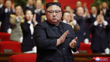North Korean leader Kim Jong Un claps his hands at meeting of the ruling party congress in Pyongyang in January.
