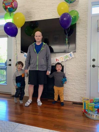Man heart cancer with children