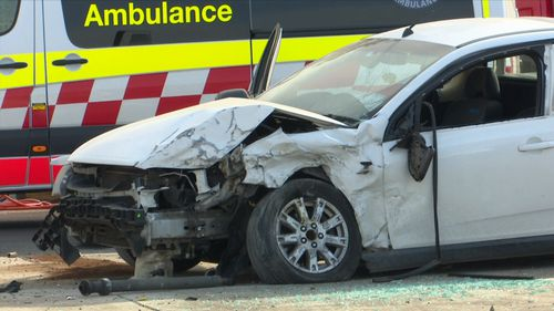 Two men have been arrested after they allegedly smashed their Holden ute into a Suzuki Swift.