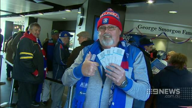 Tickets for GWS Giants v Western Bulldogs offered for $400