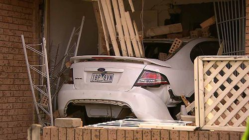 A man will face court today after his car allegedly smashed into a house in Bexley. (9NEWS)