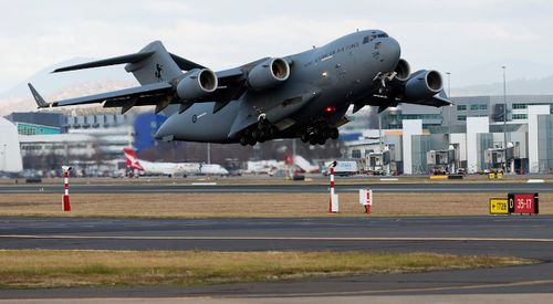 An Australian military plane has landed in Thailand to help with the search. Image: AAP