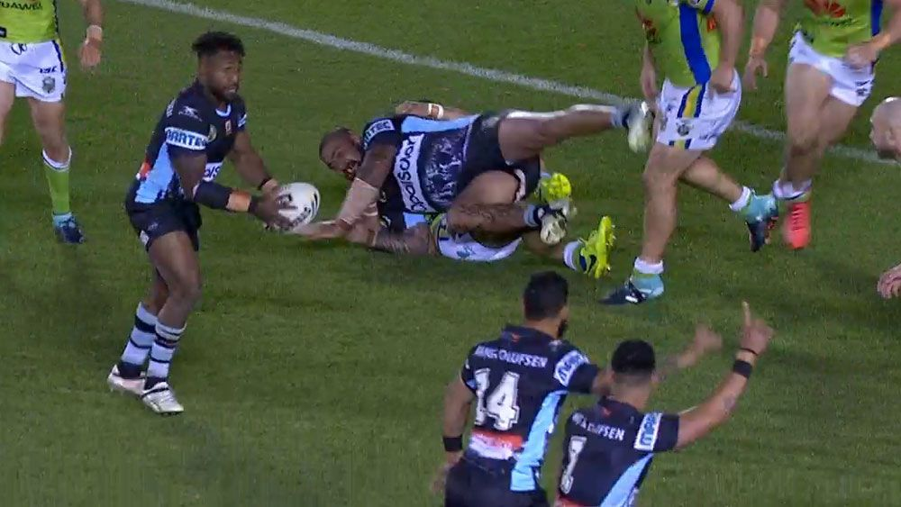 NRL: The miracle Sharks try denied by a player seeking to exploit the black-and-white rulings of the Bunker