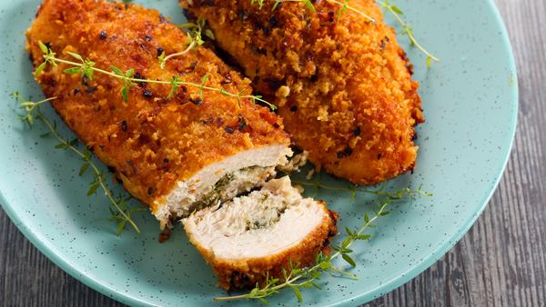 Chicken Kiev (crumbed chicken)