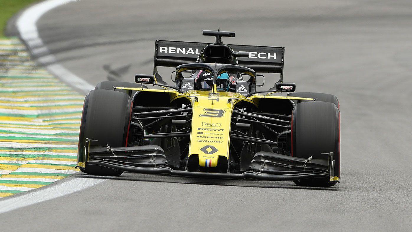 Daniel Ricciardo in action during the Brazilian Grand Prix.