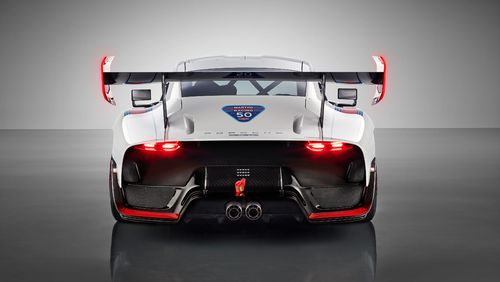 The car is affectionately dubbed the 'Moby Dick' because of its 'whale tail'.