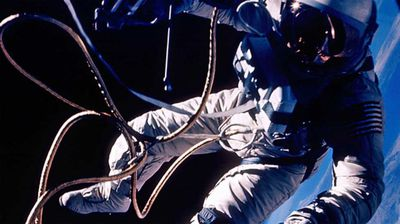 Ed White photographed over New Mexico in the United States' first space walk. (NASA)