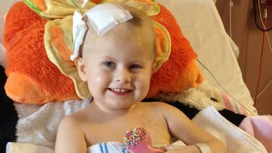 Jade smiling in hospital