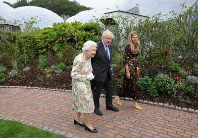 Queen Elizabeth II, Boris Johnson and Carrie Symonds