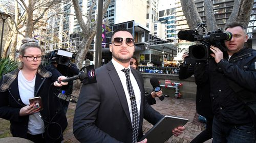Salim Mehajer arrives at Central Local Court, Sydney on June 14 (AAP)