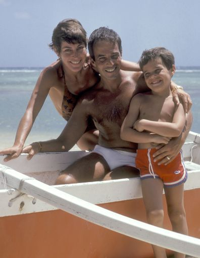 Helen Reddy, life in photos, husband Jeff Wald, son Jordan Sommers, vacation, Hawaii, 1980