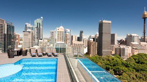The view from the hotel's 22 floor, where the swimming pool is located and the chemicals were inadvertently mixed together. (Pullman Sydney Hyde Park)
