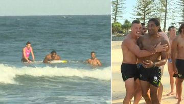 'That's what happens when you don't do Nippers!' NRL player rescued