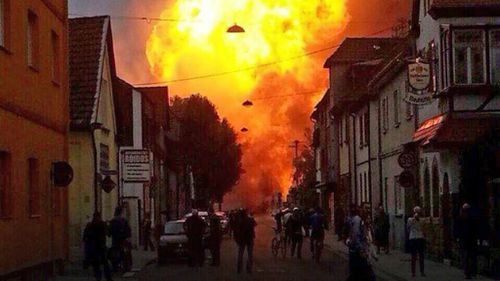 Dramatic fireball shoots high above German city in pipeline accident