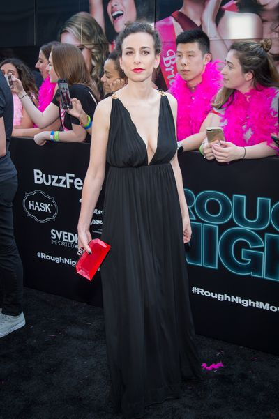 Lucia Aniello at the premiere of <em>Rough Night</em> in New York.