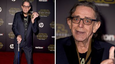 British-American actor Peter Mayhew, best known for playing Chewbacca. (Getty)