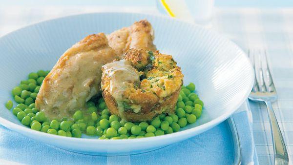 Quick chicken, stuffing and gravy